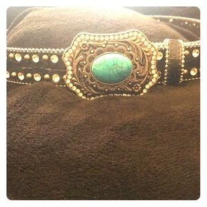 Accessories - 🔥Closet Clearing Sale🔥Leather & Turquoise Belt